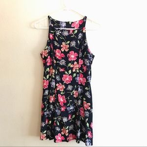 Vintage 90s floral mini dress sleeveless small